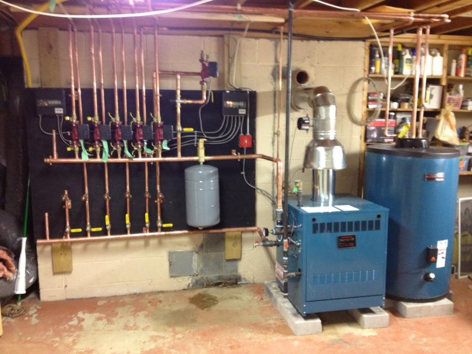 5-zone heating system installation
