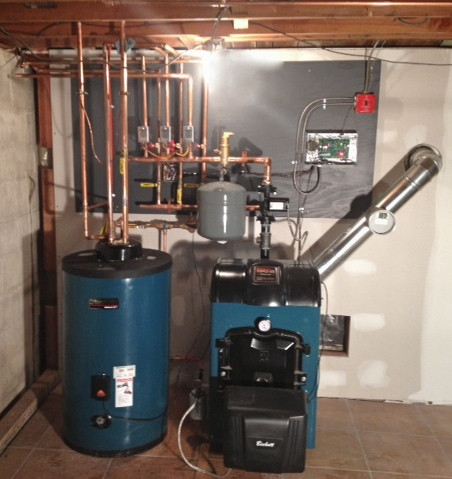 Oil Boiler with indirect hot water