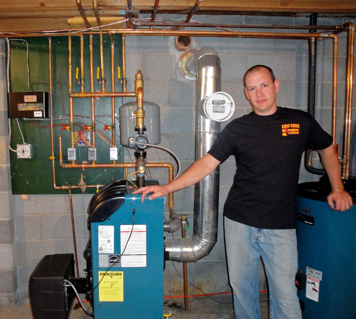 Eric J. Grub with 4 zone heating system