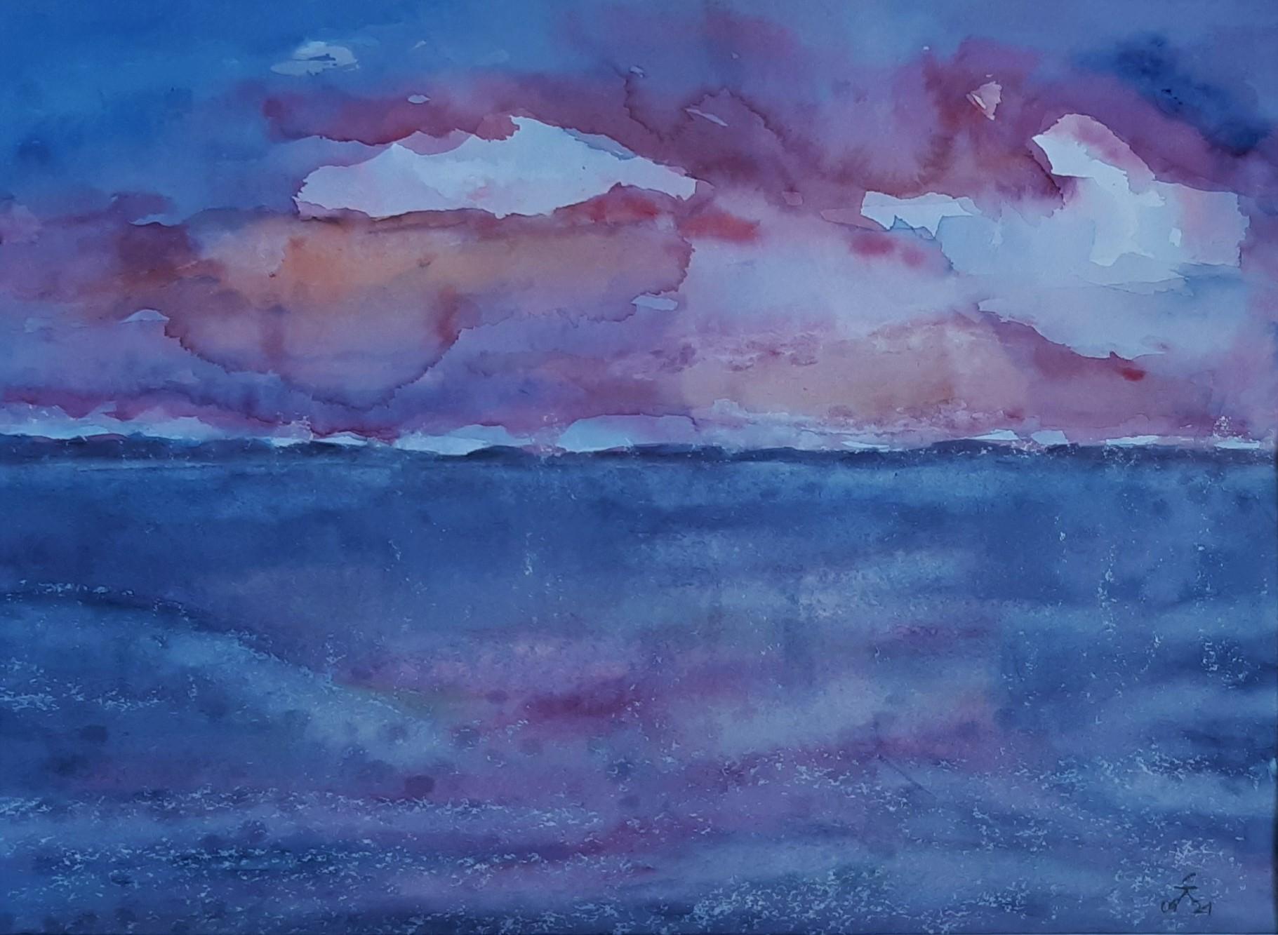 Wolken II, 36x47 (2021)