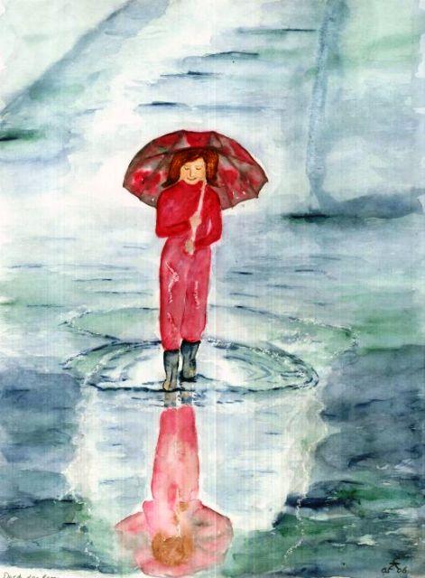 Mädchen mit Regenschirm, 30x40 (2006)