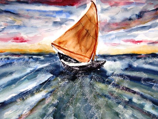 Stürmische See, 36x48 (2009)