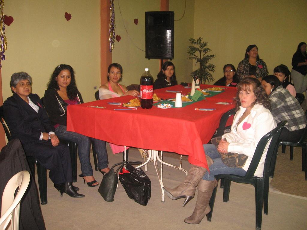 Una de las mesas