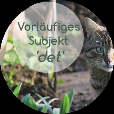 """""""det""""/""""es"""" als inhaltsleeres Subjekt und die norwegische Satzstellung"""
