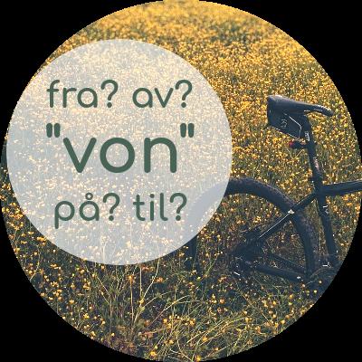 norwegisch von, fra til av på