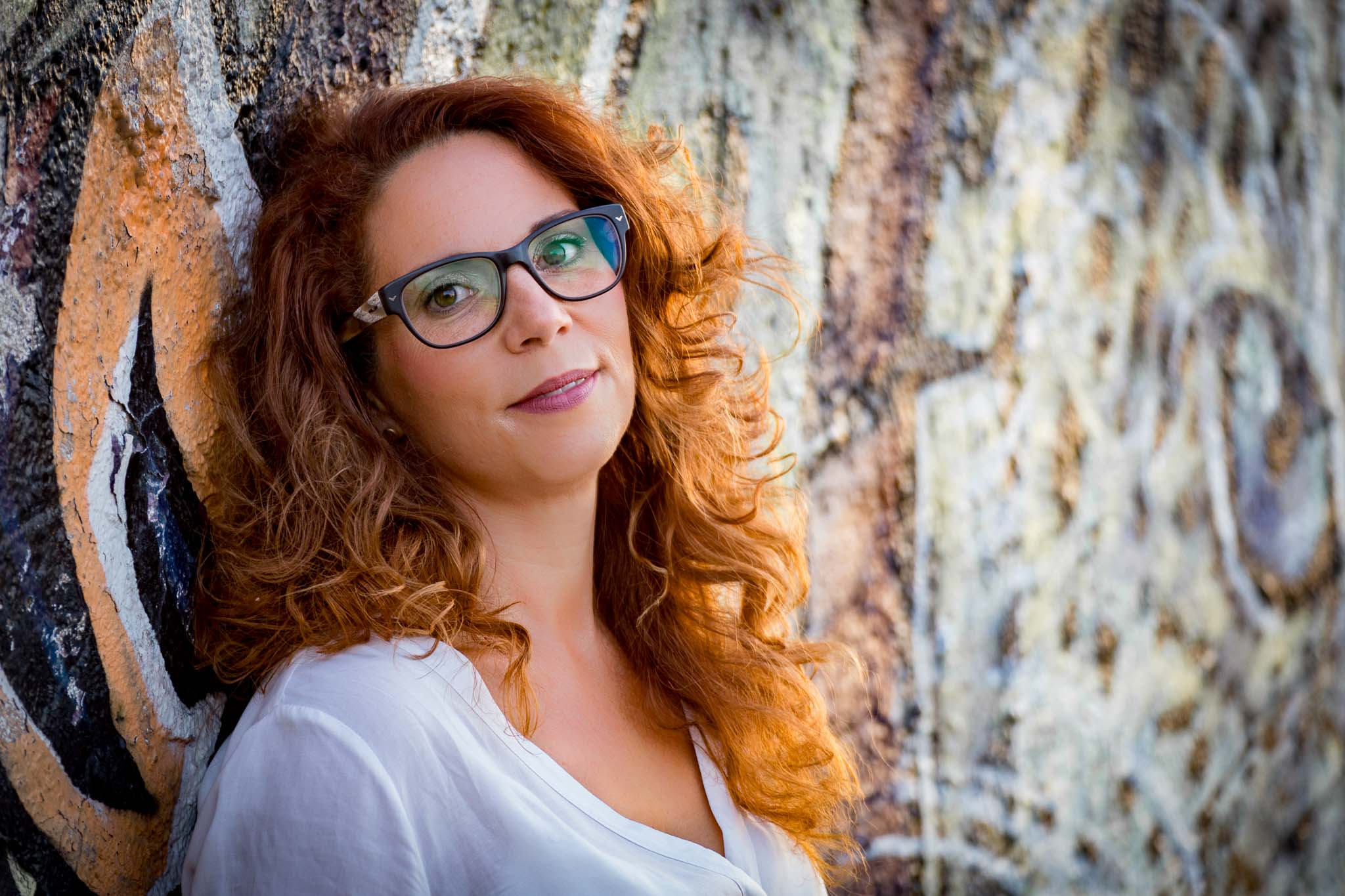 Porträt: Sandra im Rheinhafen