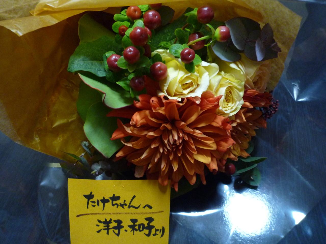 洋子さん、和子さん、素敵なお花をありがとうございました。