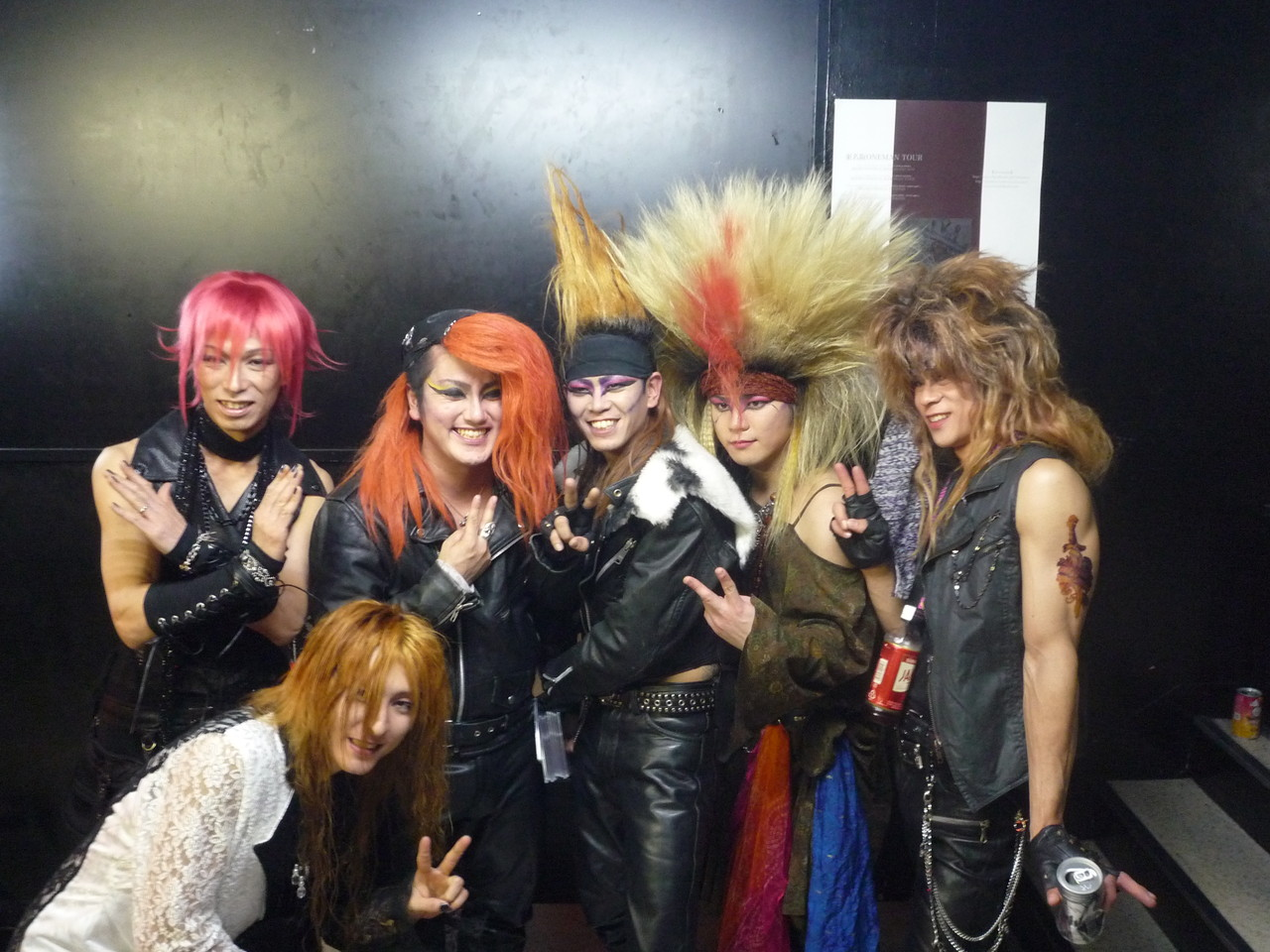 ライヴ終了後♪ X-HIROSHIMAメンバーと記念写真☆ 僕にとって最高の音楽仲間です!