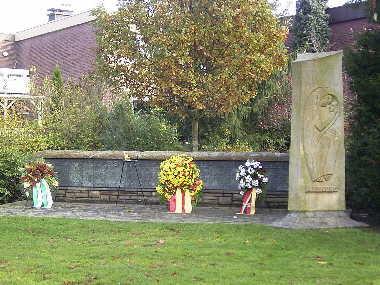 Ehrenmal in Olfen im Stadtpark