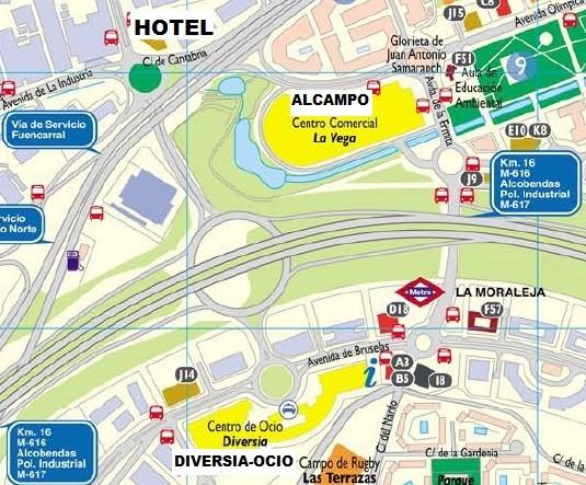 Plano de situacion hotel y alrededores