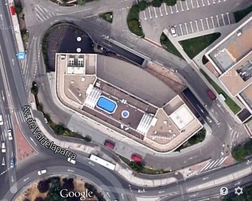 Vista Aérea Hotel, entrada parking por parte izquierda