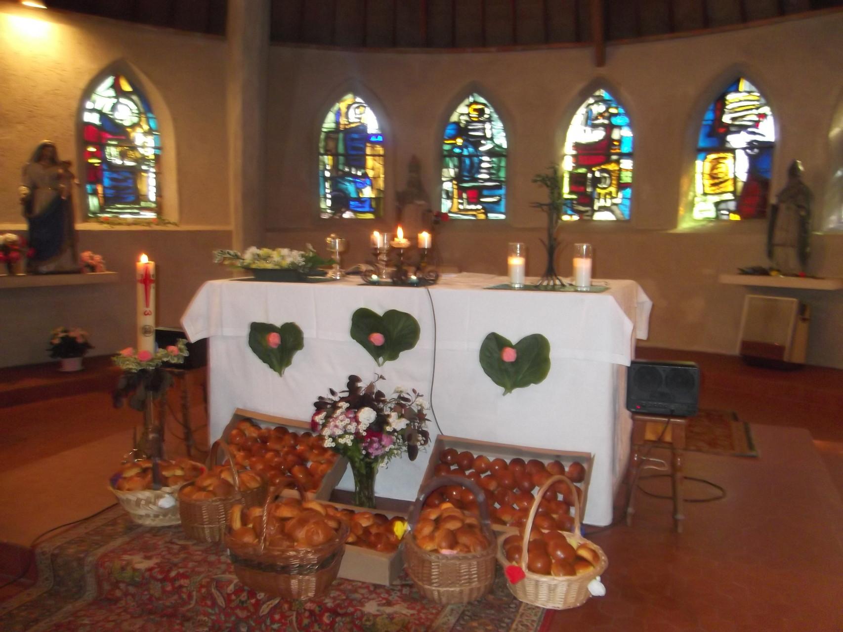Eglise le jour de la fête du pain 2014