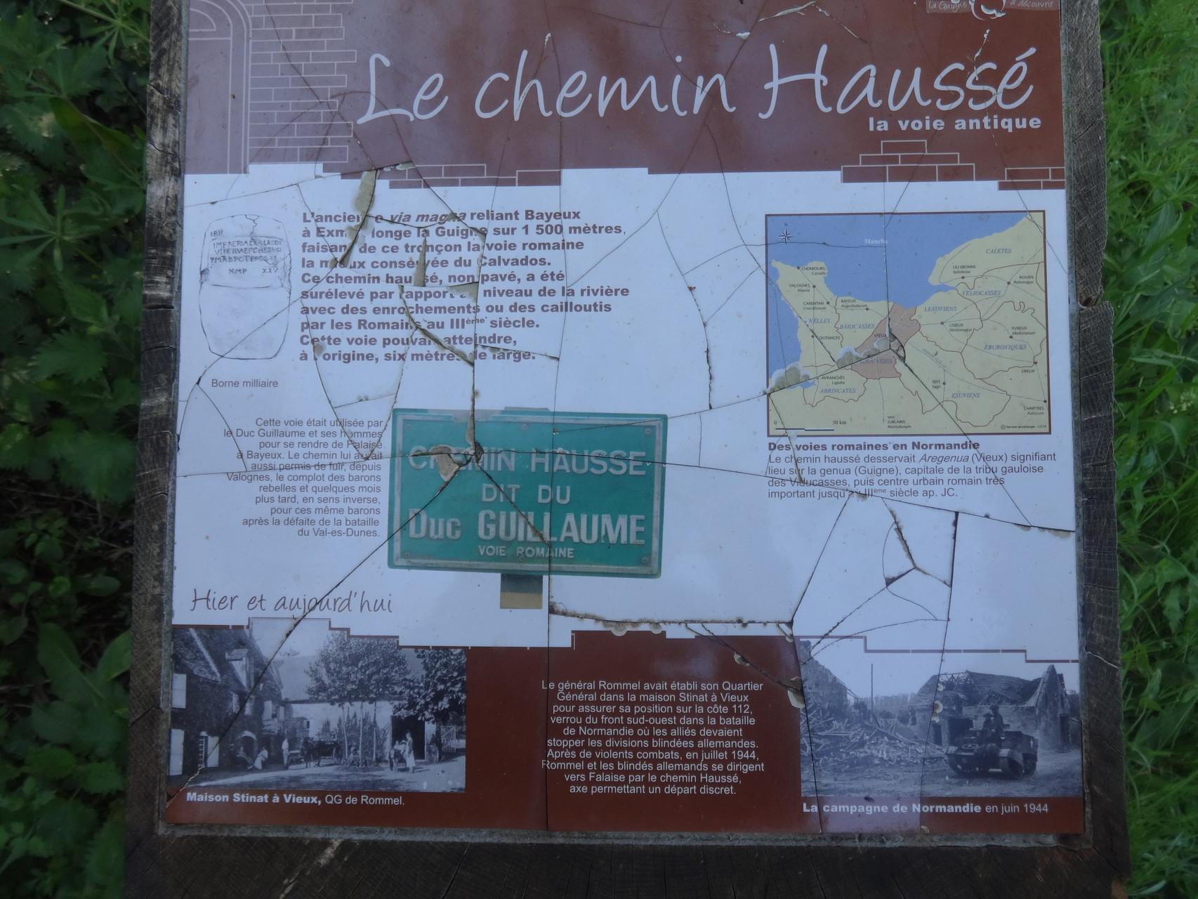 Chemin Haussé - panneau explicatif