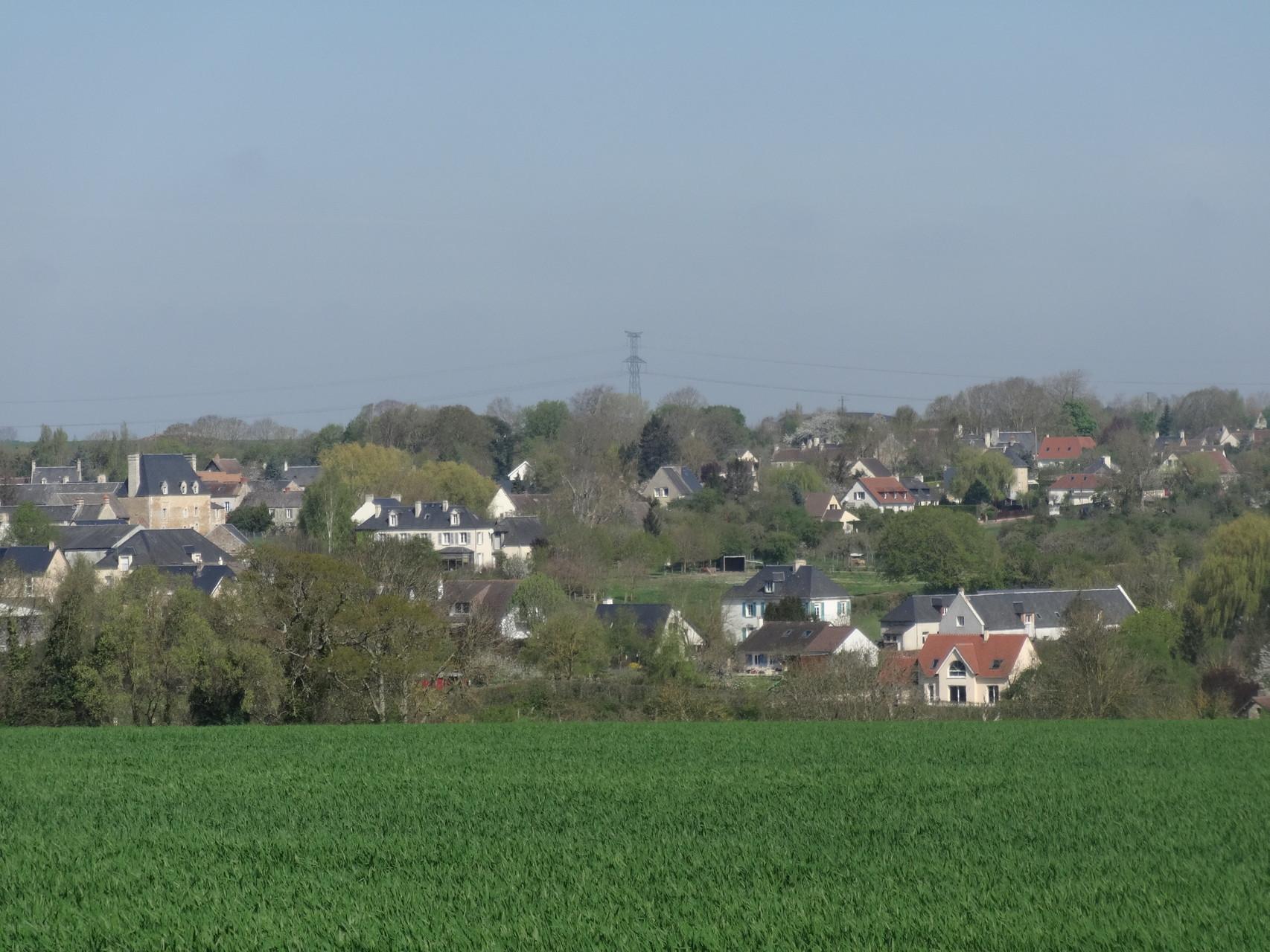 entre Vieux et Avenay - vue sur toute la commune de Vieux