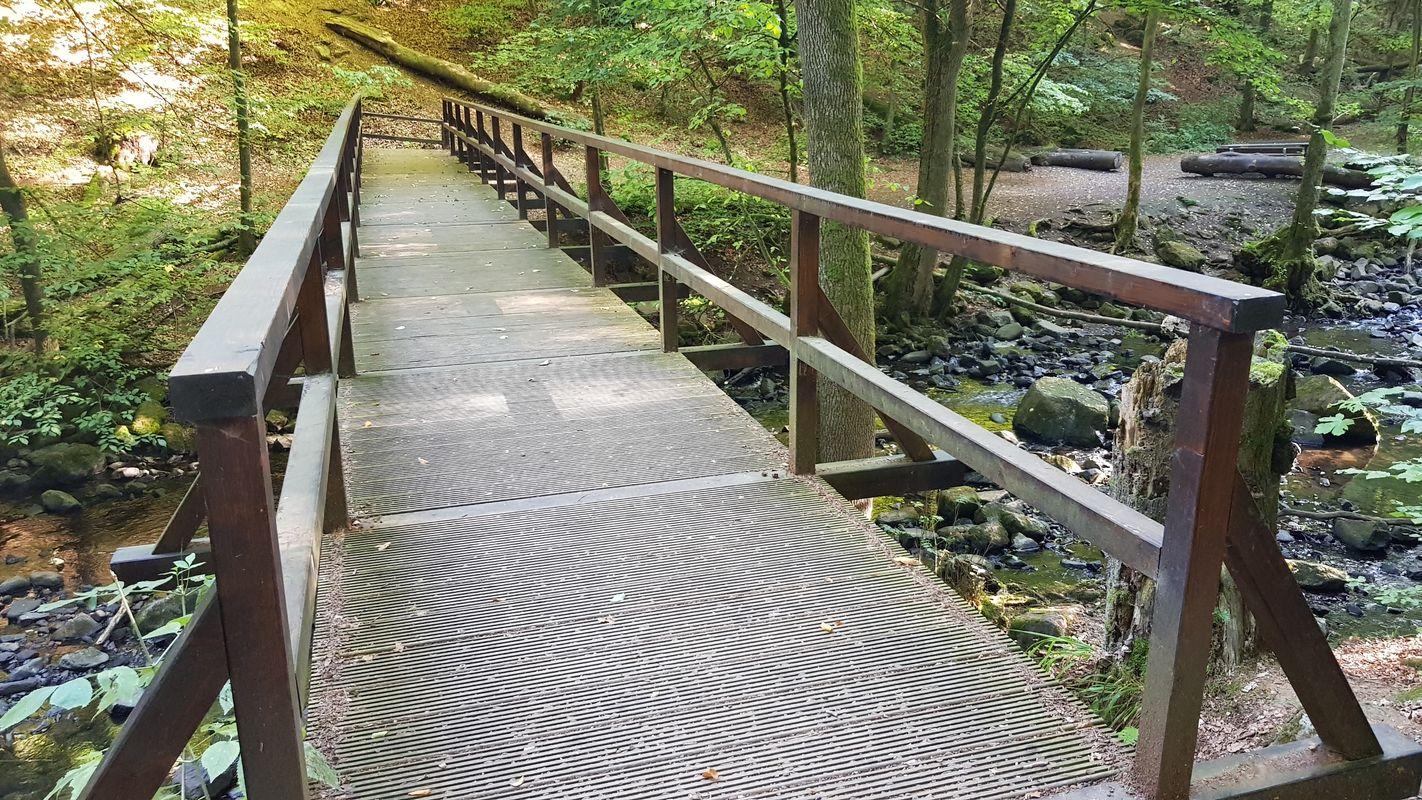 Brücke über den Holzbach in der Großen Holzbachschlucht