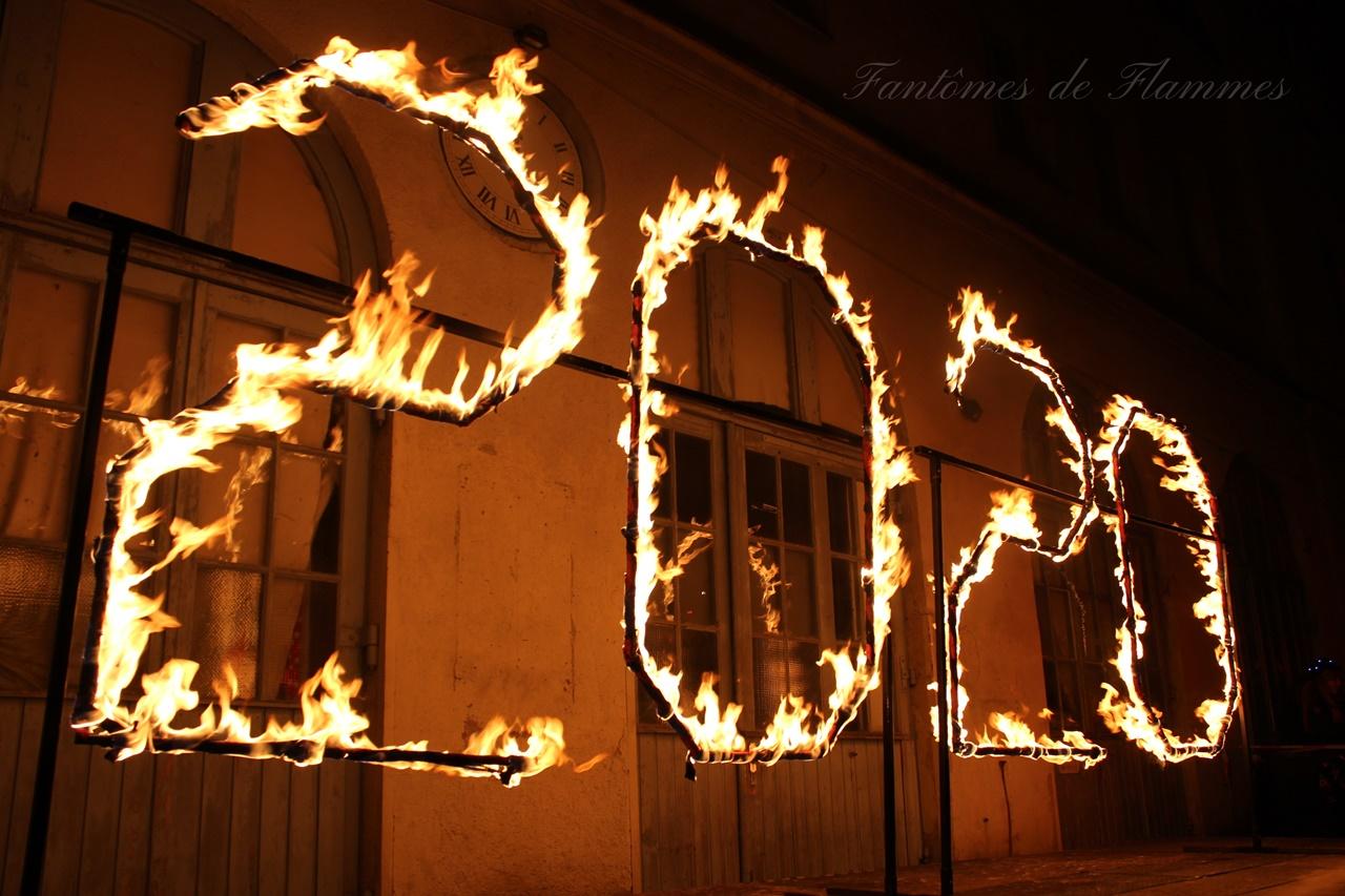 Feuershows auf der Praterinsel in München