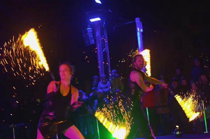 Feuershows beim Kö-Park-Leuchten Augsburg