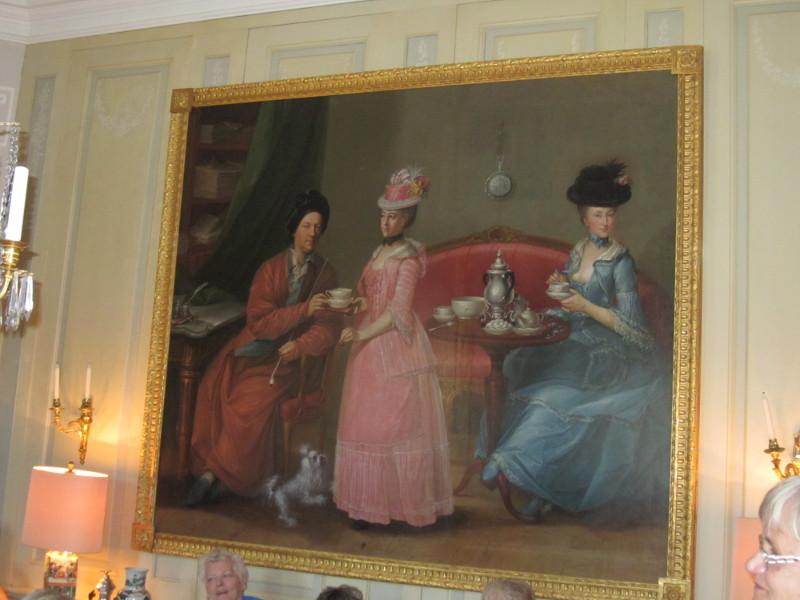Casper von Saldern, im rosa Kleide seine uneheliche Tochter