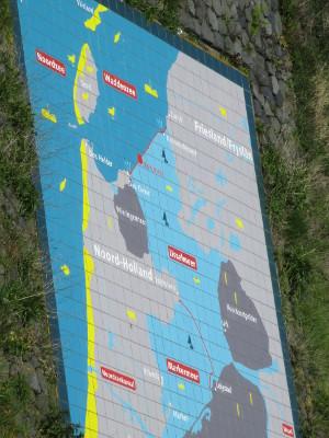 Erklärungstafel Nordsee und Ijsselmeer