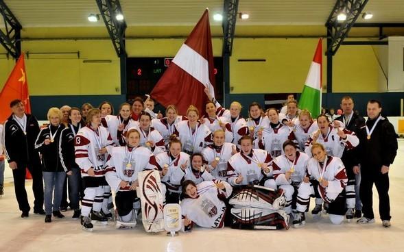 Lolita Andrisevska und das lettische Frauen-Nationalteam. Bravo!