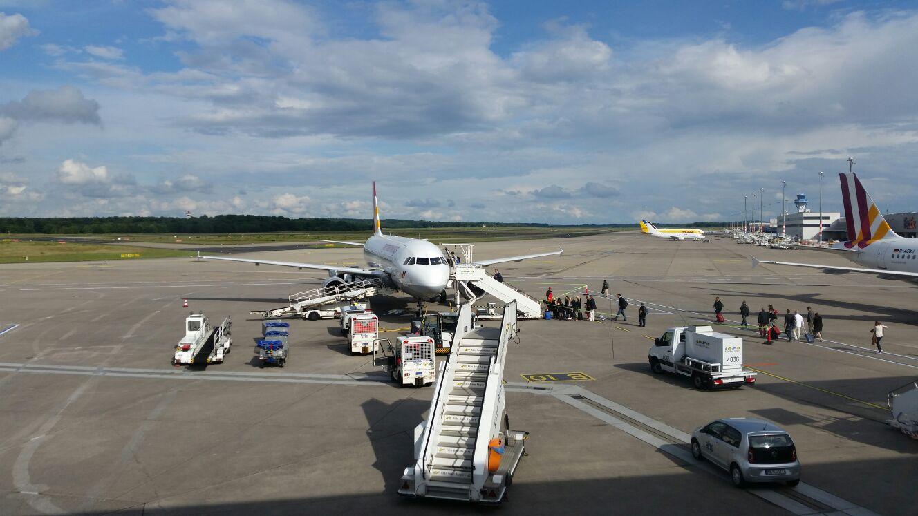 Kurz vor dem Start (Flughafen Köln/Bonn)