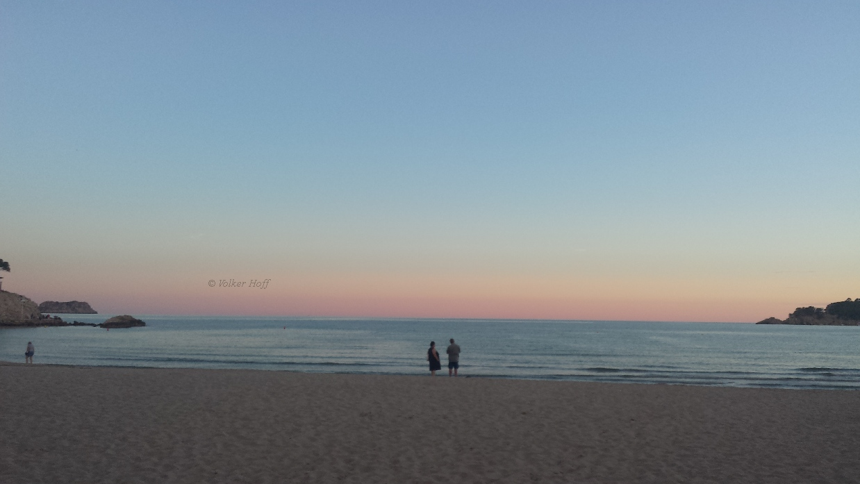 Sonnenuntergang mit fantastischen Farben