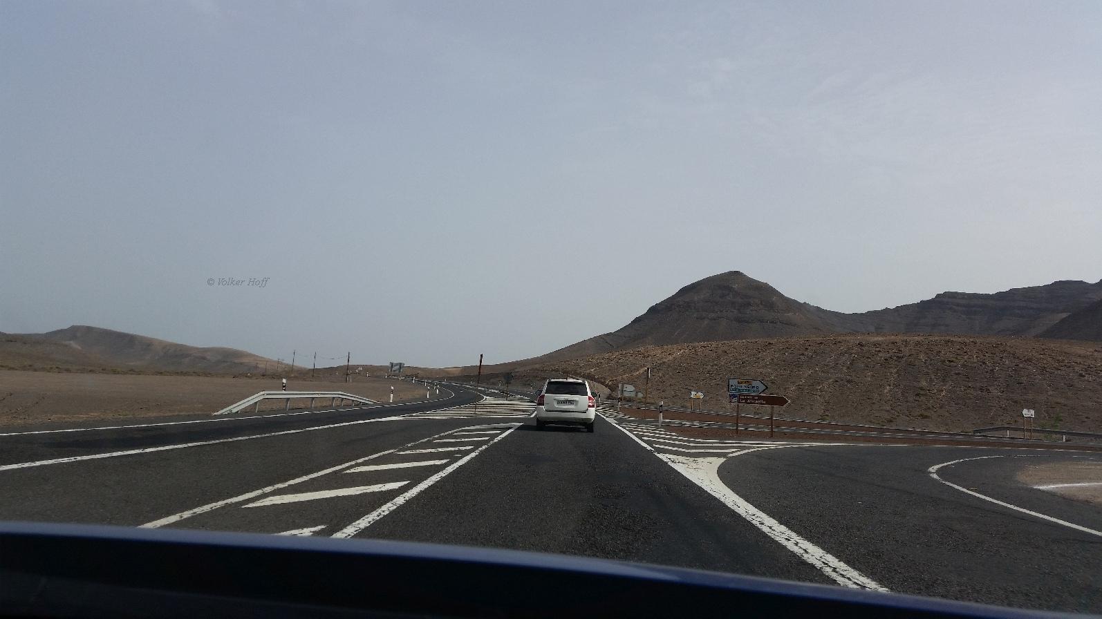 Auf dem Weg nach Corralejo