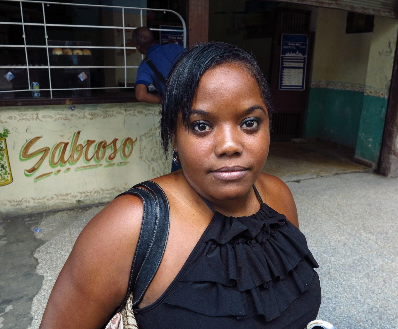Indira in Havanna, Kuba