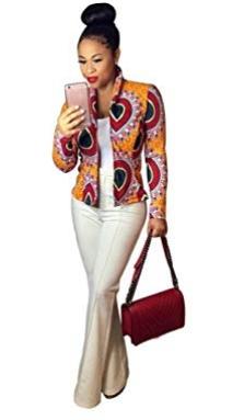 Veste femme longue menche graphic VP-00123. Prix : 22500 FCFA