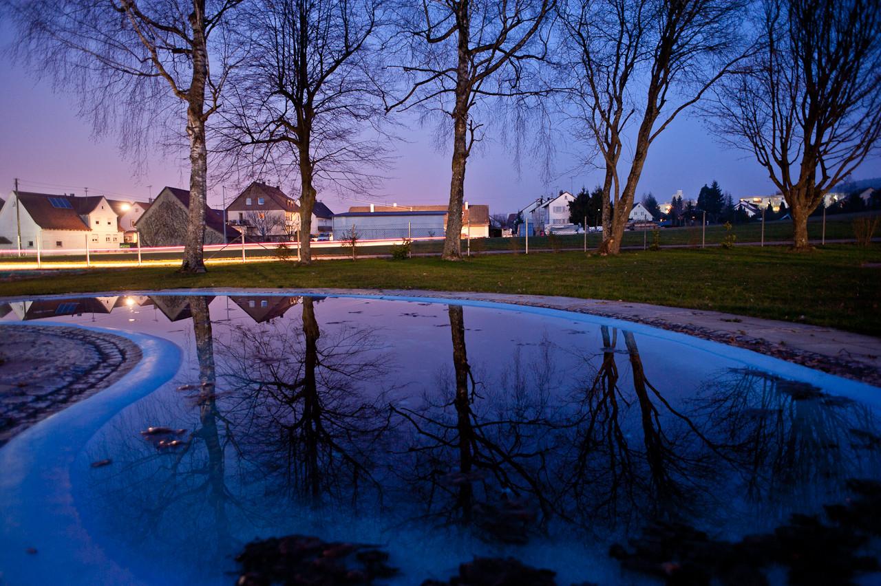 Wasserspiegelung Freibad Weiler - Kinderbecken
