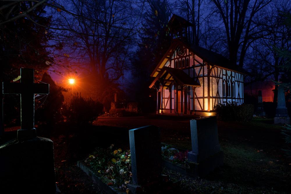 Lichtmalen: Alter Friedhof Schorndorf 2019