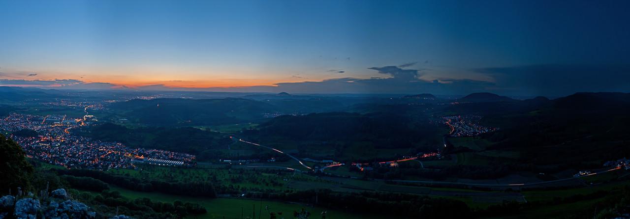 Blick vom Messelstein - Hohenstaufen, Rechberg, Stuifen