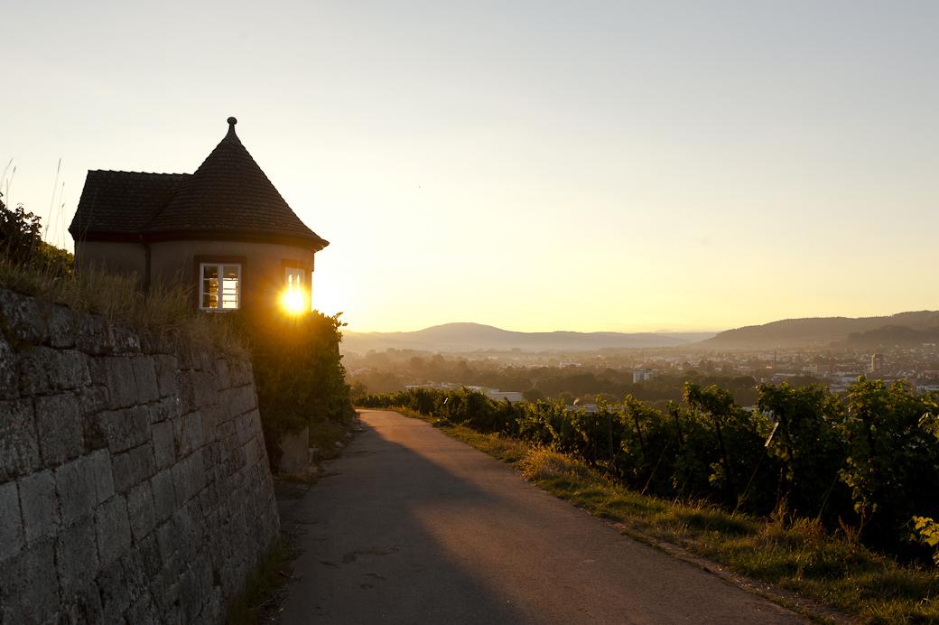 Sonnenaufgang am Grafenberg in Schorndorf