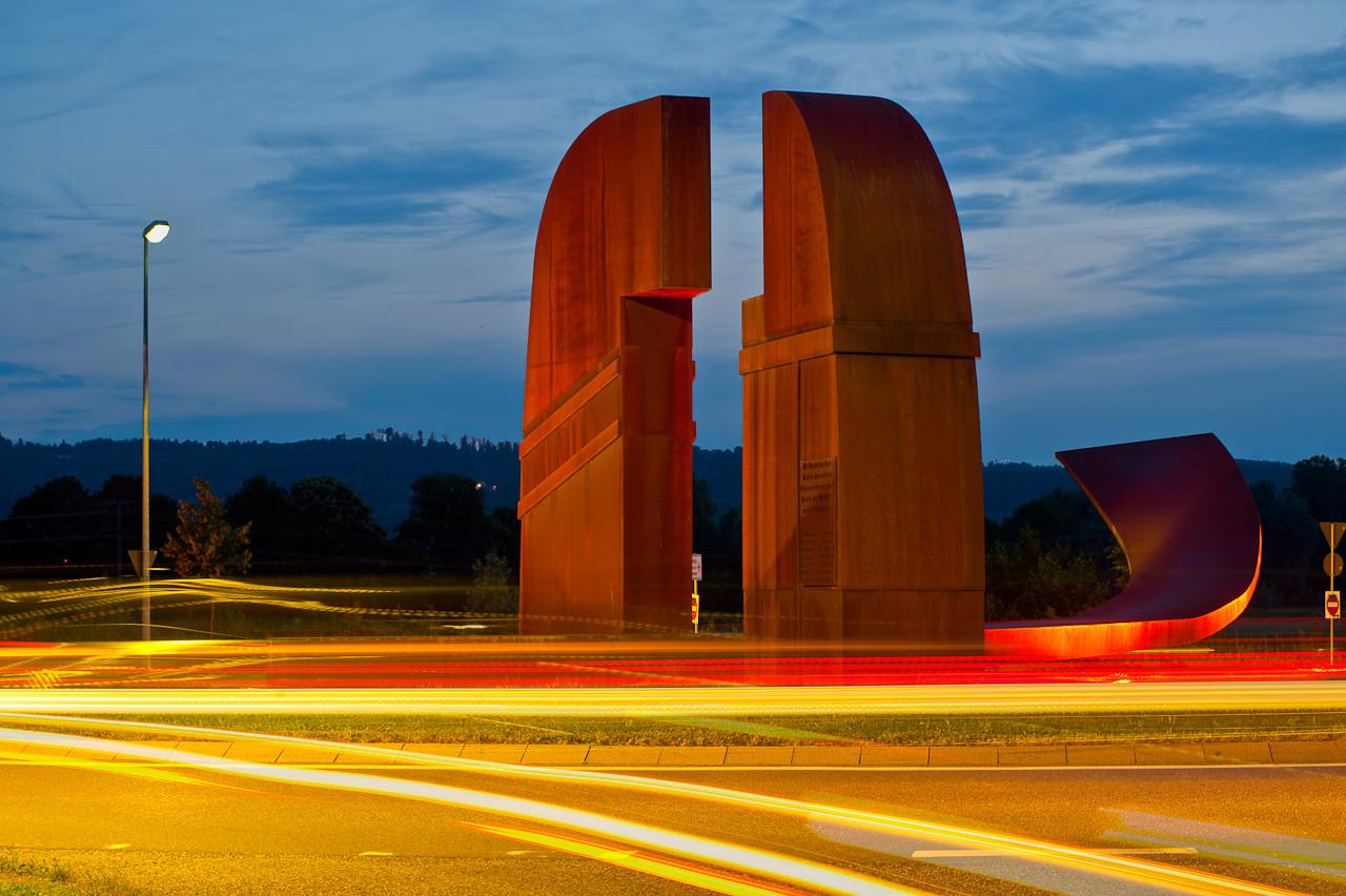 Siegerbild 2013 Fotowettbewerb Stadtwerke Schorndorf: Tuscaloosa Kreisel