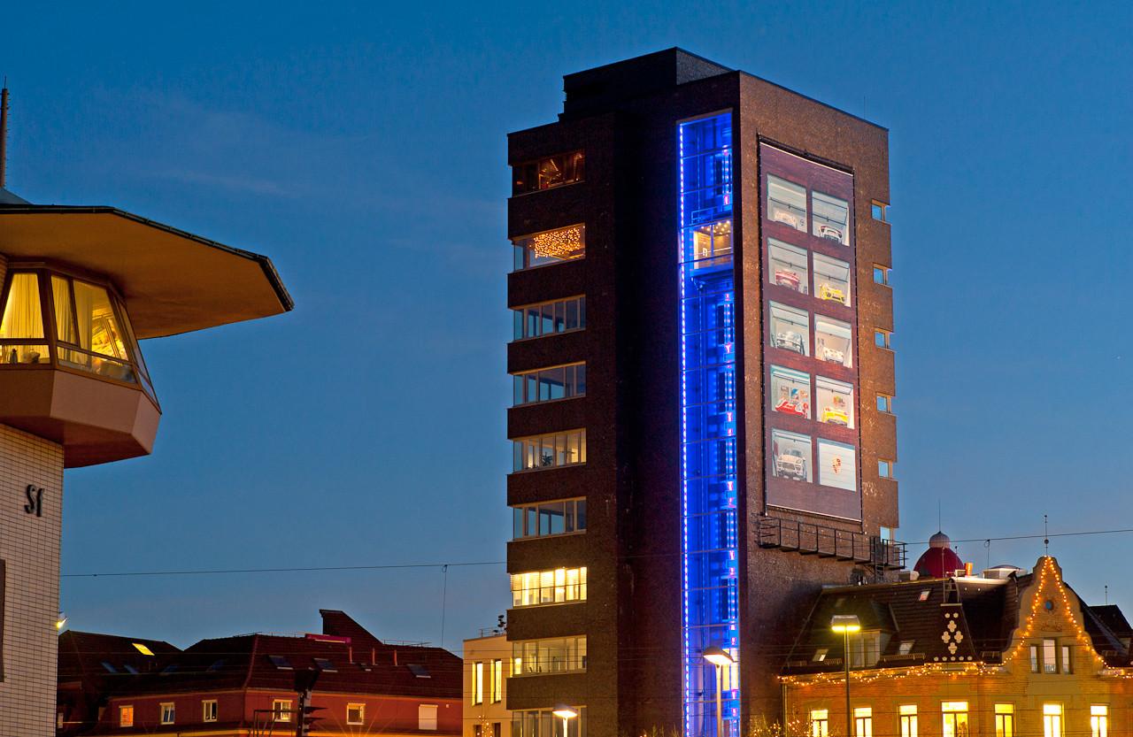 Post-Turm Schorndorf mit Stellwerk