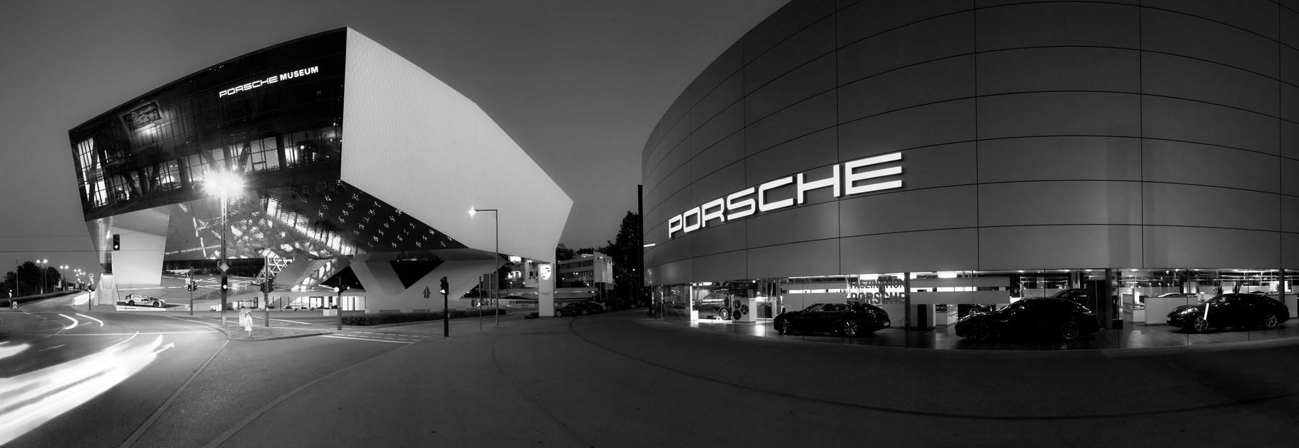 Porsche Museum Stuttgart - Panoramafotografie