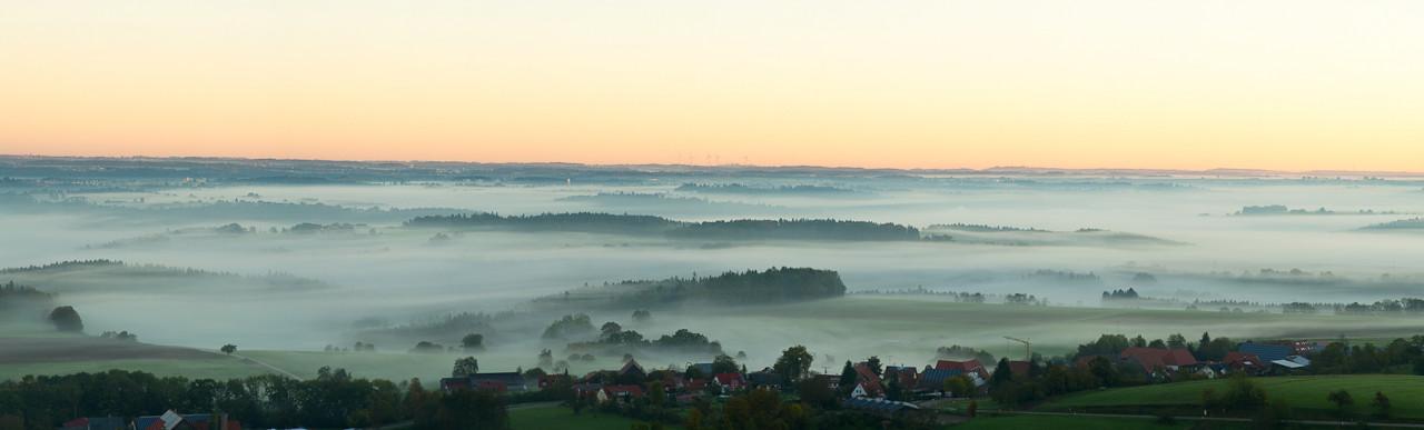 Blick vom Aasrücken bei Hohenstaufen - Panoramafotografie