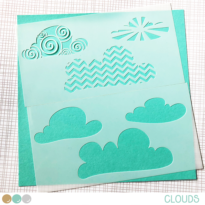 Image result for create a smile clouds stencil