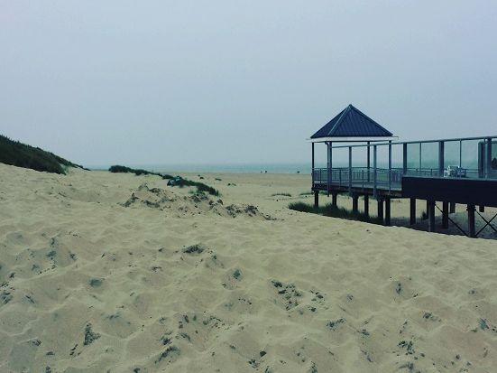 Dünen und Wasserschanze an der niederländischen Nordsee
