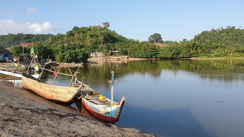 Mangroven-Fahrt in Butre, Ghana