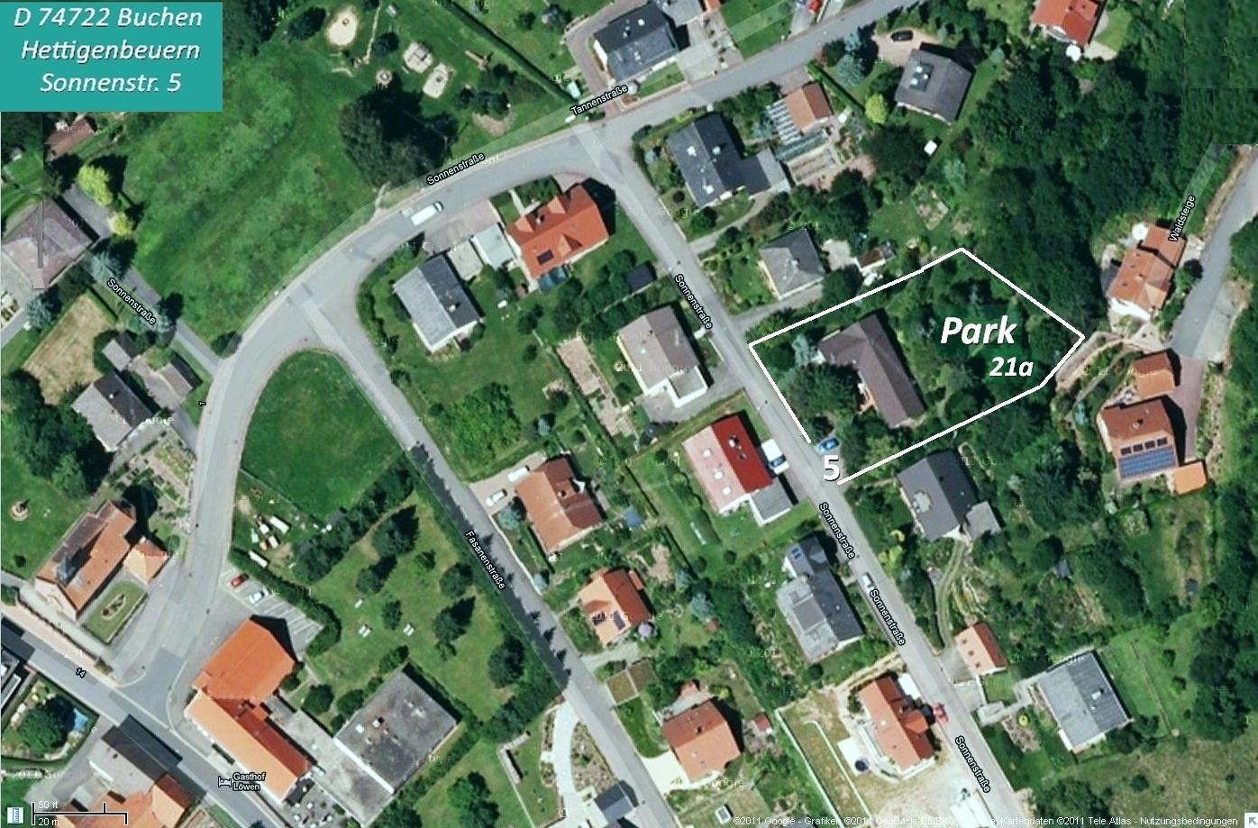 Satellitenbild Sonnenstraße Buchen Hettigenbeuern