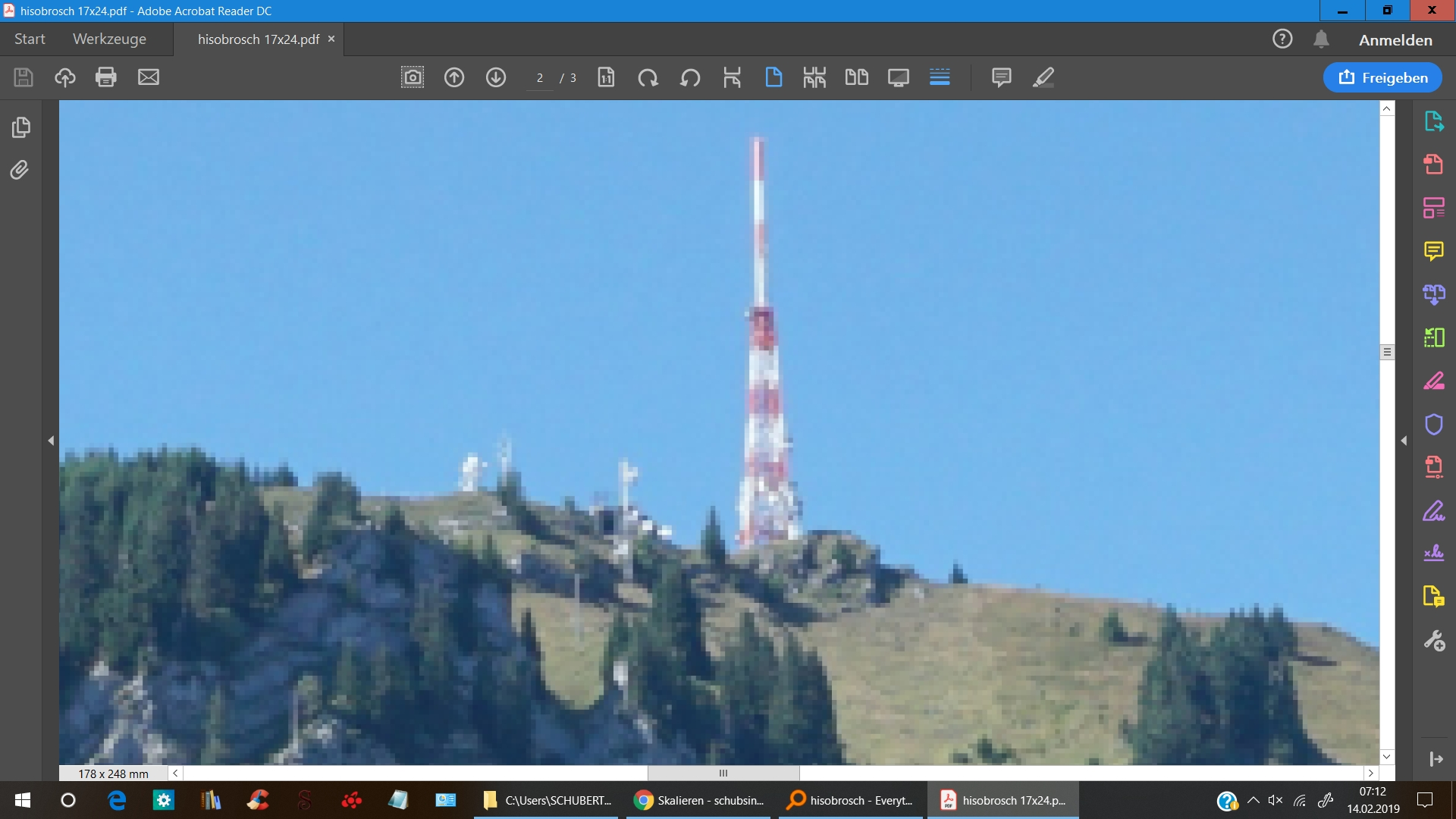 1 Quelldatei 178x248mm aus PDF 1600 Prozent vergrößert