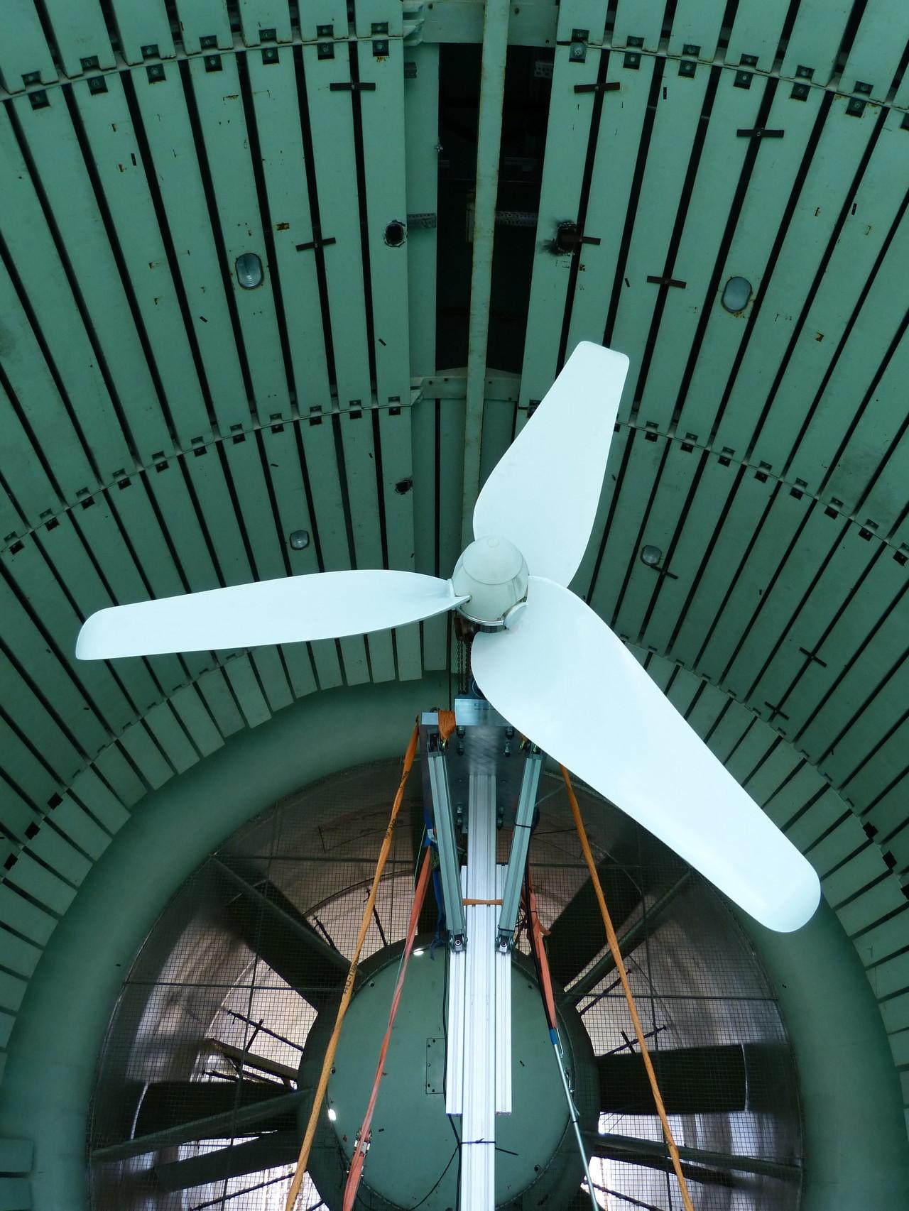 Windrad im Windkanal