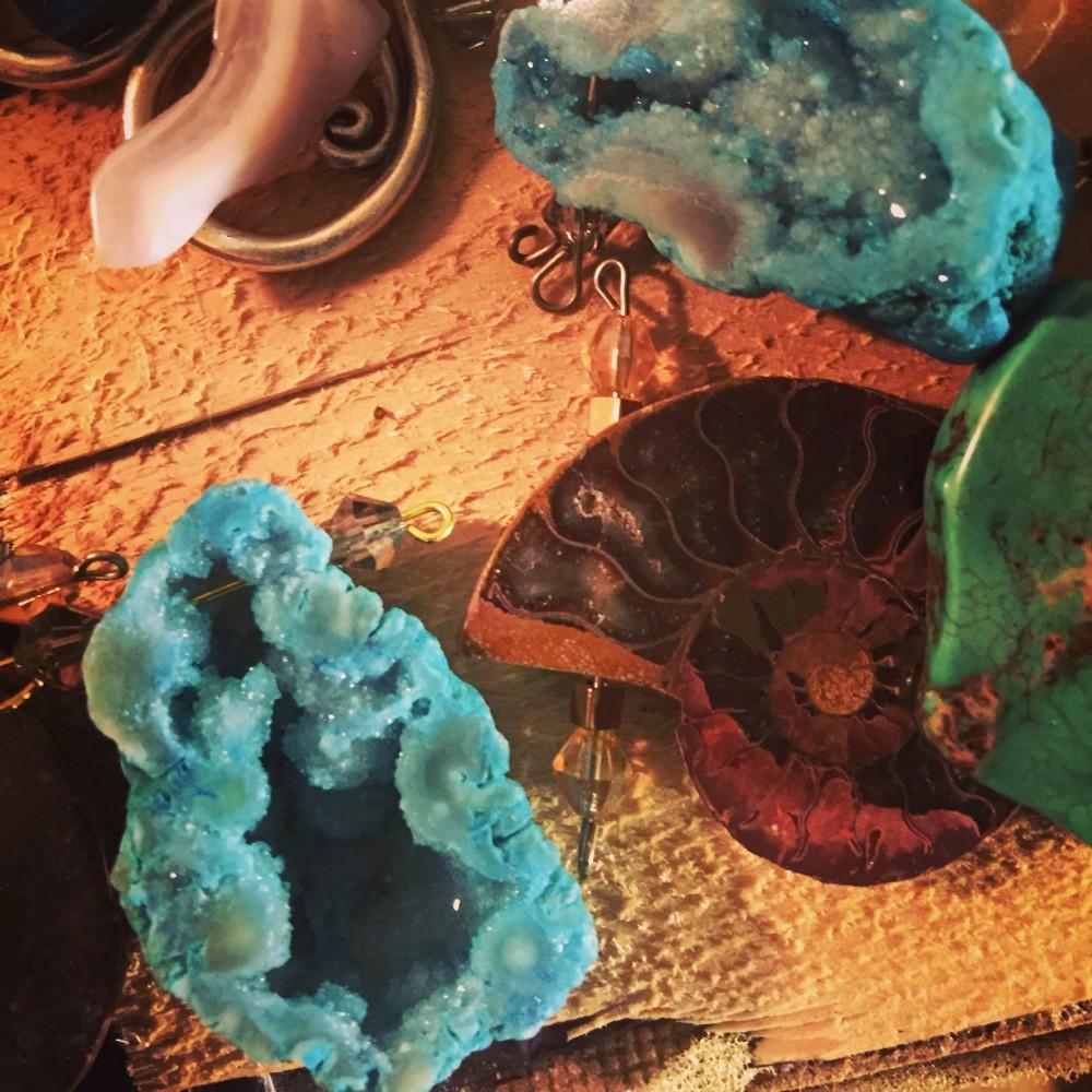 Ammonites and Druzy