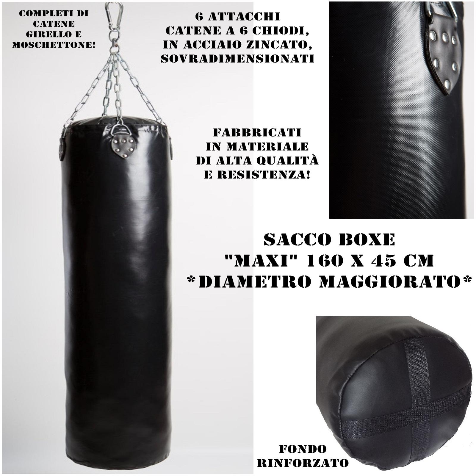 Sacco pieno da boxe 20 kg   100 x 35 cm