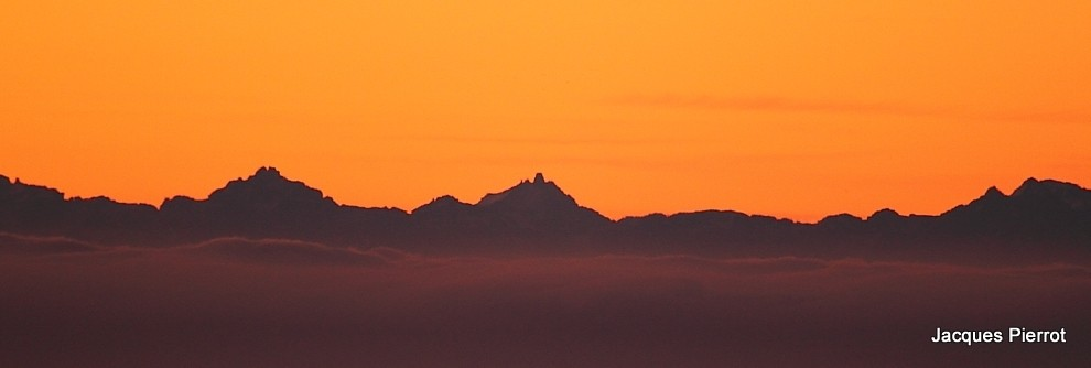Le 15/10/2011.Les Alpes vu du Hohneck  (Hautes Vosges)