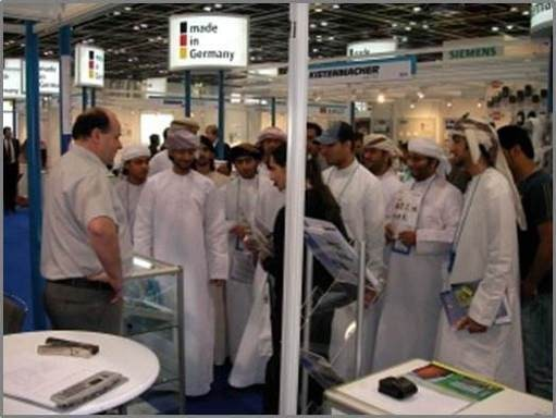 2004  - Dubai, Middle East Electicity  -  Alfred Karner in dicussion with local delegation
