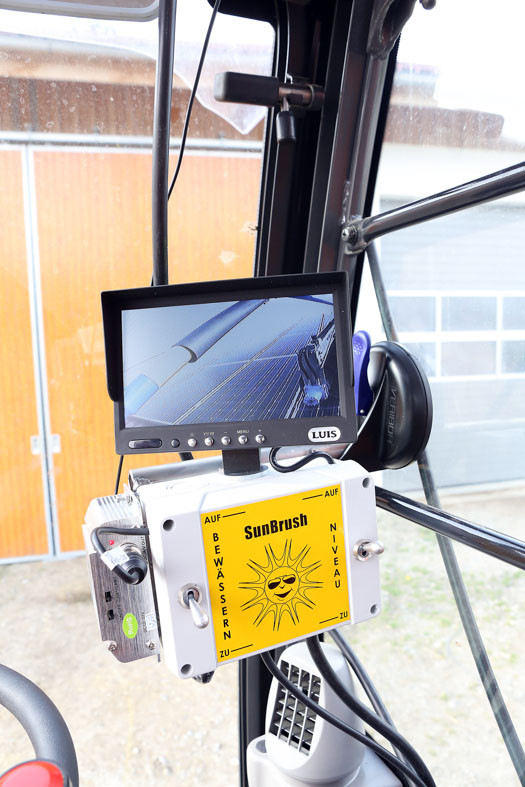 SunBrush mobile - contol unit and monitor in drivers cabine