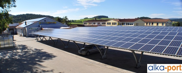 alkaSOL / EST project: alka-port with covered JA-Solar modules