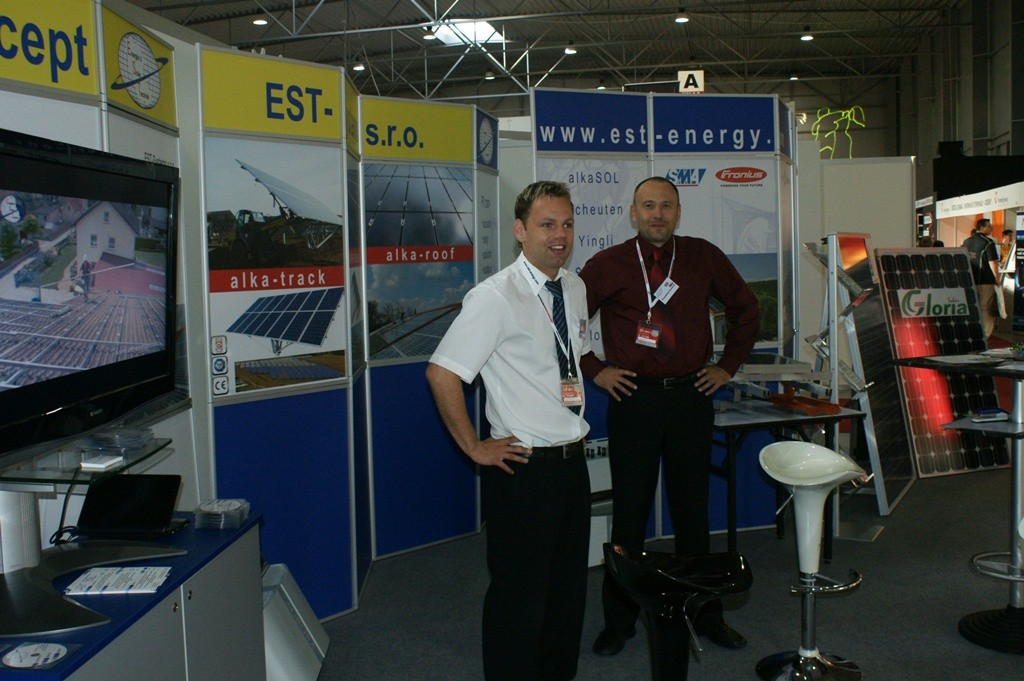 Prague September 2009  -  alka and EST at PV fair